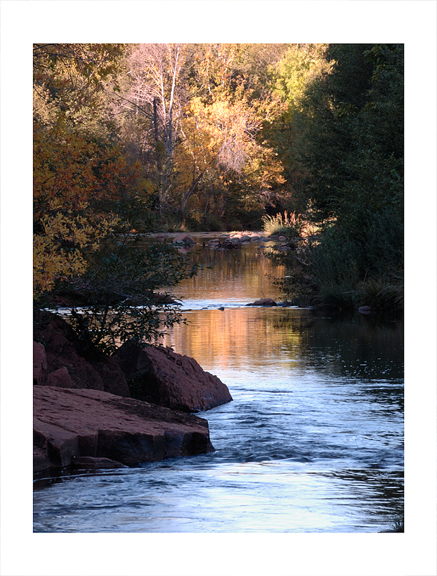 A placid spot on Oak Creek in Sedona.