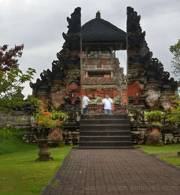 The front gate of Taman Ayun Temple in Bali.