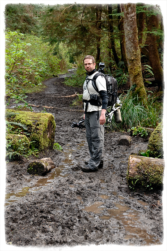 The muddy trail to Shi Shi beach in Olympic NP.