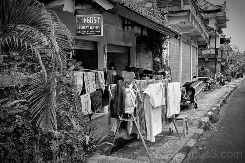 A laundry service in Ubud, Bali.