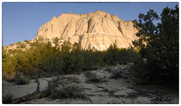 The white cliffs at Tent Rocks NM.