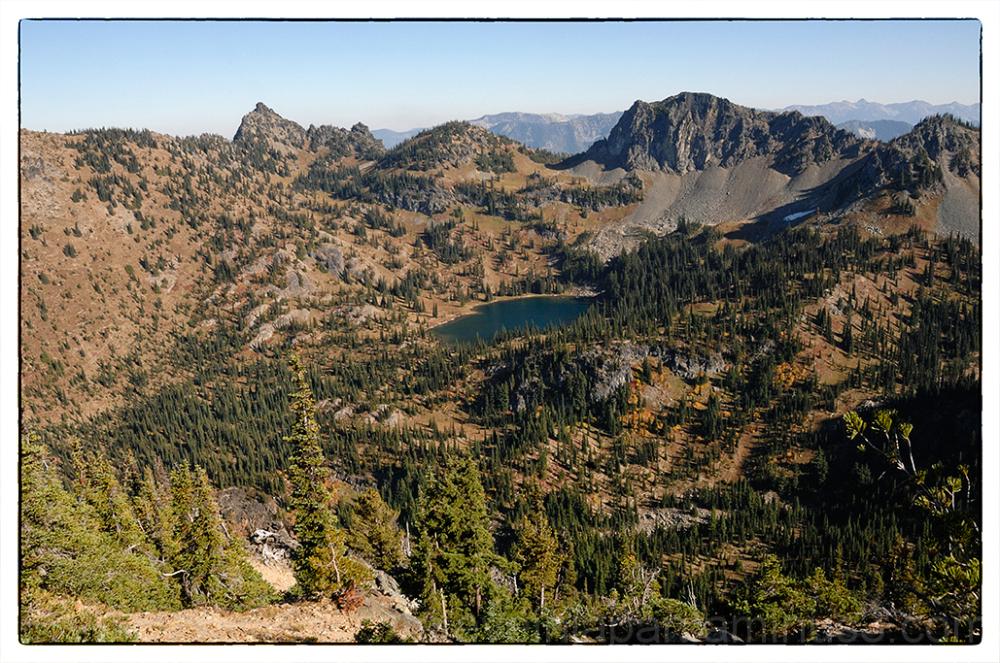 Crystal Lake from Crystal Peak.