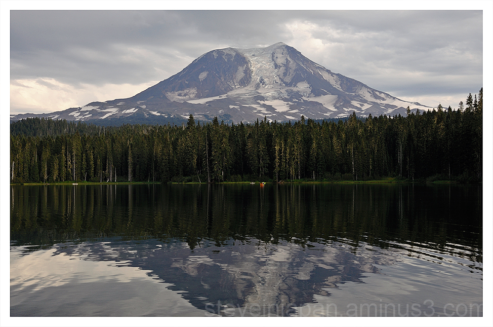 Mount Adams from Takhlakh Lake.