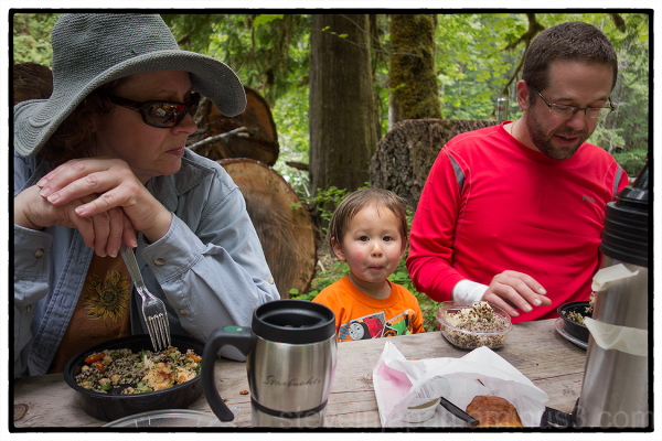 Lunch along the Skokomish River.