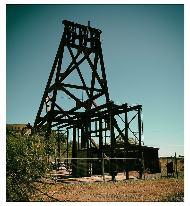 The Audrey Headframe from the Little Daisy Mine.