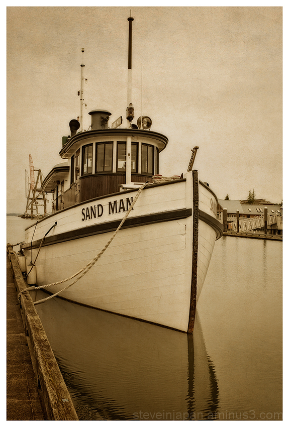 The tugboat, Sand Man, in Olympia, WA.