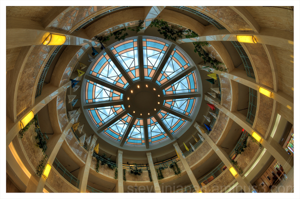 The rotunda of the New Mexico Capitol.