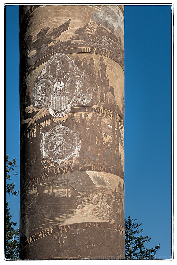 The Astoria Column in Astoria, Oregon.