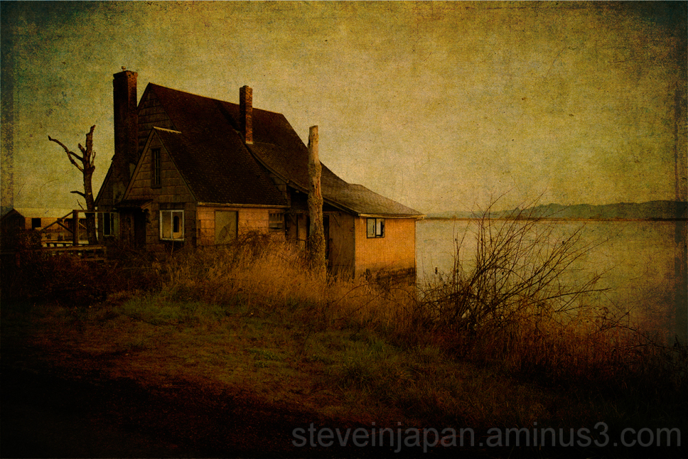 An old house near Astoria, OR in a Drowned World.