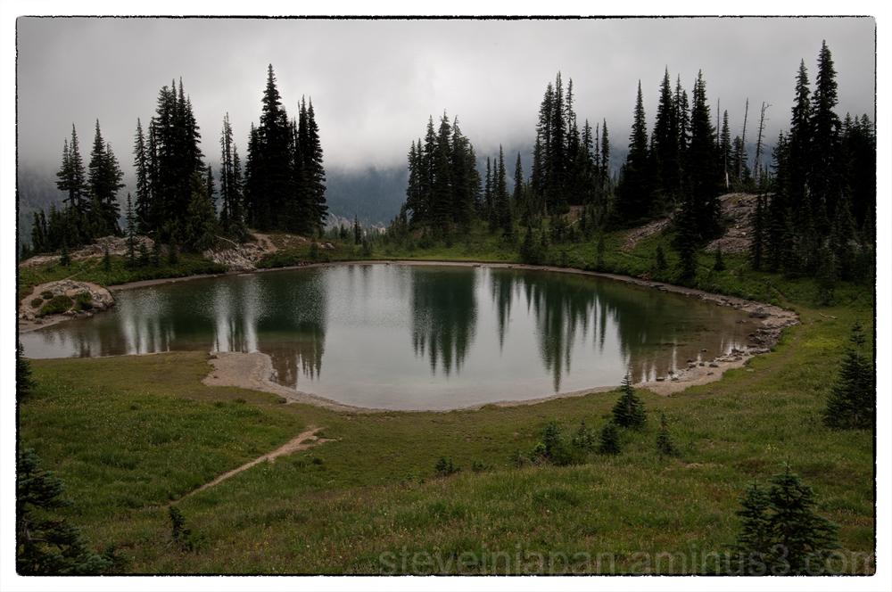 An alpine lake along the Naches Peak Loop Trail.