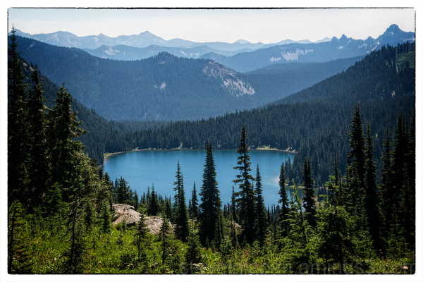 An alpine lake along the Naches Peak Loop Trail.