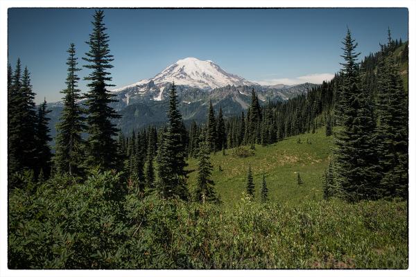 Mount Rainier from the Naches Peak Loop Trail.