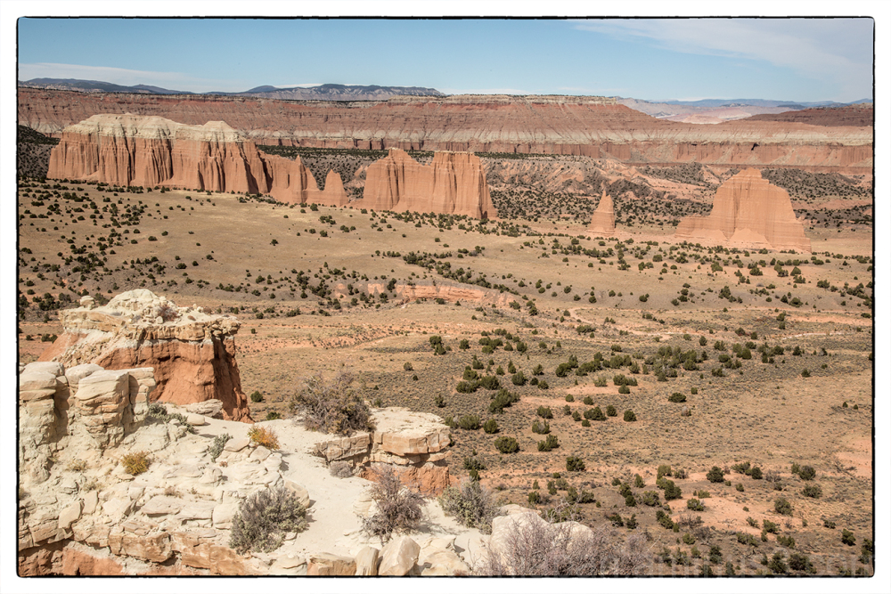 The Cathedral Valley Loop in Capitol Reef NP.