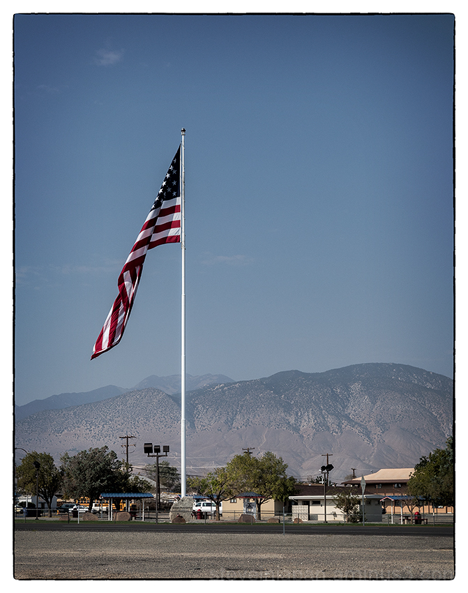 A large flag seen in Hawthorne, Nevada.