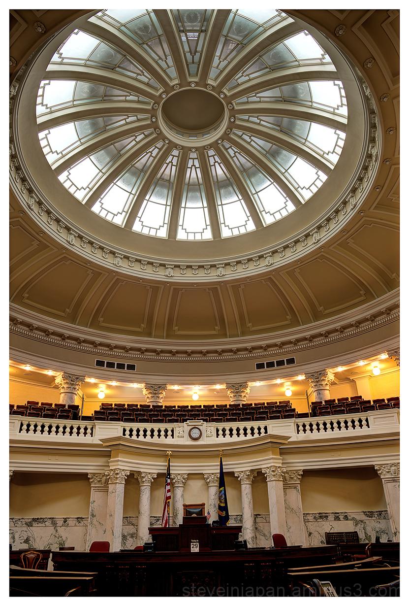 The Idaho State Capitol in Boise, Idaho.