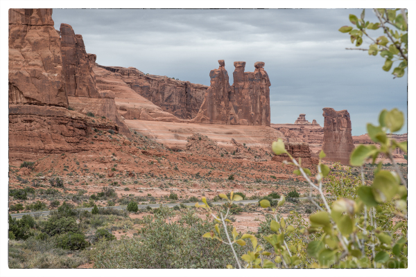 The Three Gossips in Arches National Park.