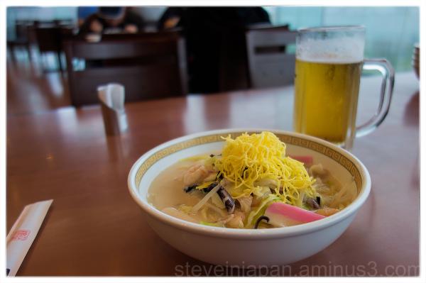 Champon in restaurant Shikairo in Nagasaki.