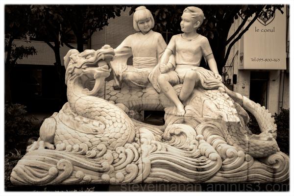An interesting scuklpture in Nagasaki, Japan.