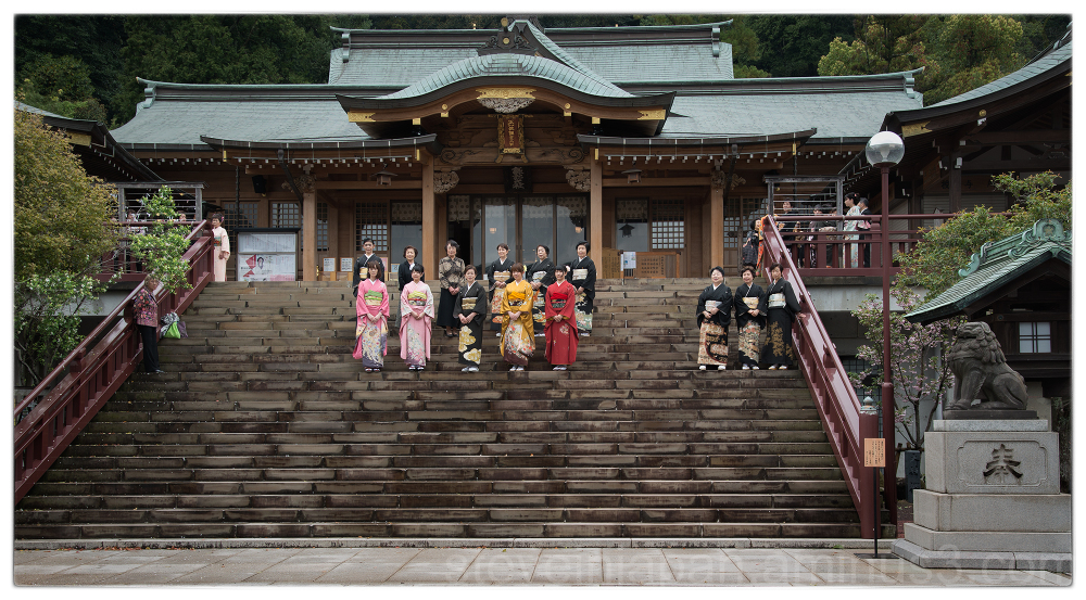 Group photos at Suwa Shrine in Nagasaki, Japan.