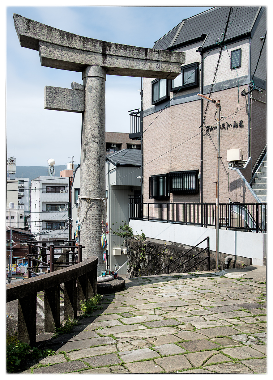 One-legged torii at Sanno Shrine in Nagasaki.