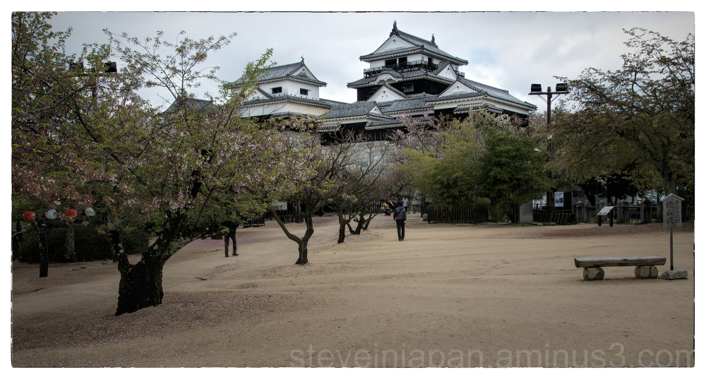 The central compound of Matsuyama Castle.