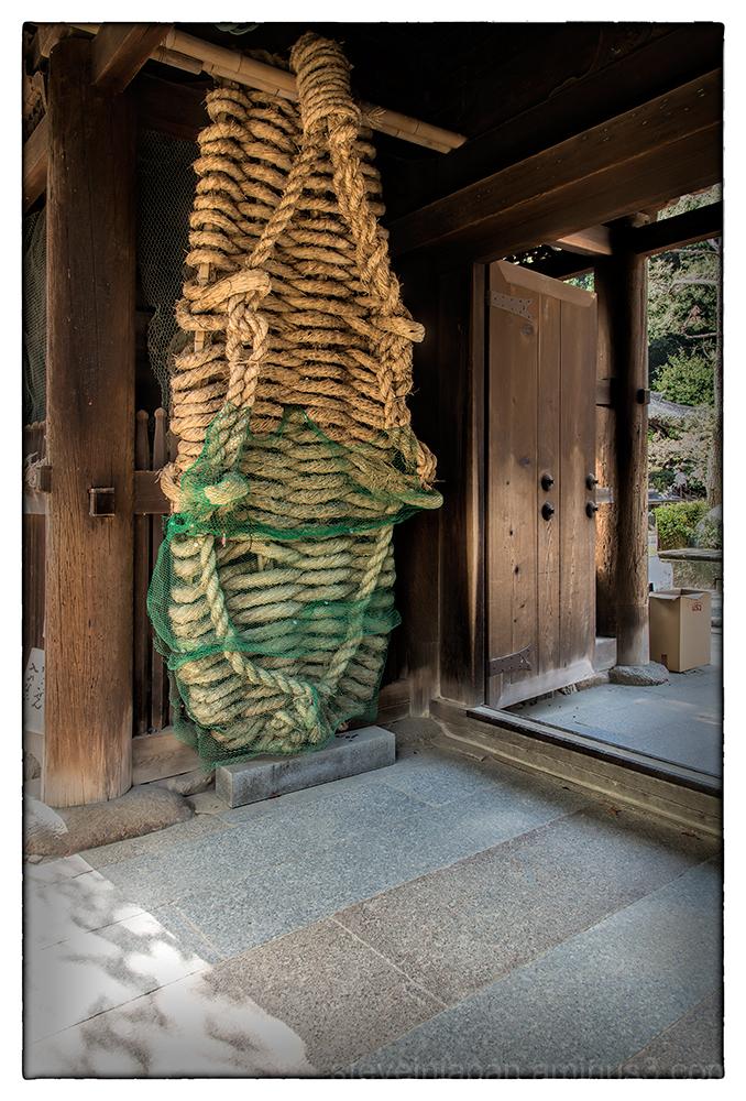 Large sandals at the entrance to Ishite-ji.
