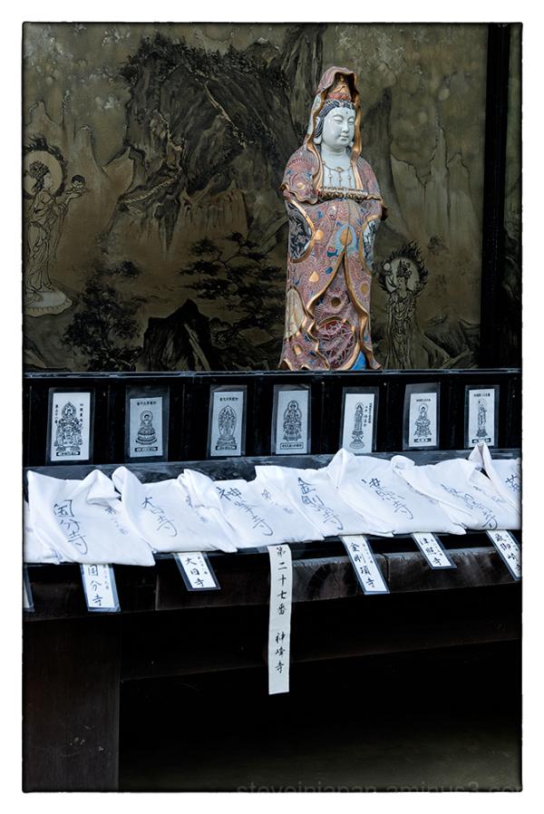 A figurine at Ishite-ji in Matsuyama, Japan.