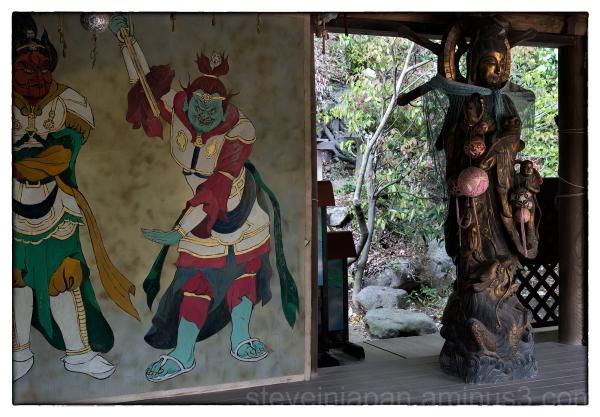 A sculpture at Ishite-ji in Matsuyama, Japan.