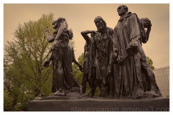 The Burghers of Calais, by Rodin, in Ueno, Tokyo.