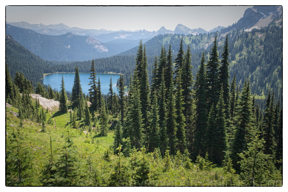 The Naches Peak Loop at Mount Rainier NP.