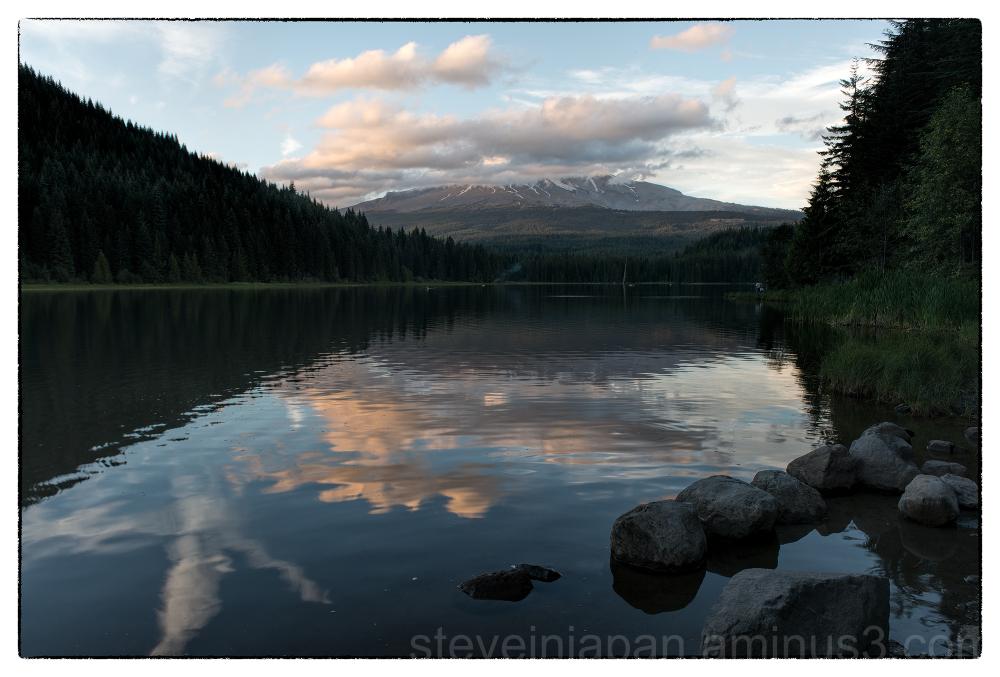 Mount Hood as seen from Trillium Lake.
