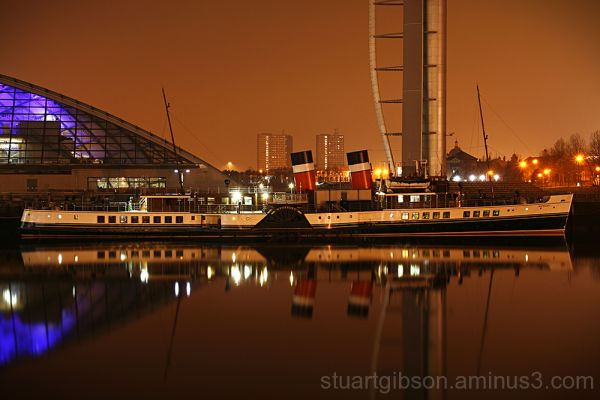 The Waverley at her winter berth on the Clyde.