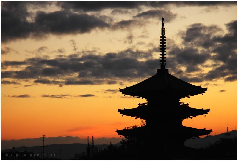 Winter Sunset, Houkanji - 法観寺