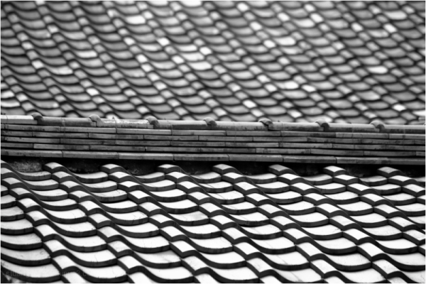 on the tiles
