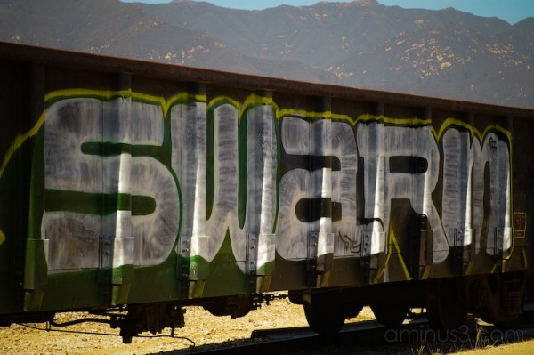 Graffiti train.