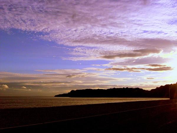 welsh headland at dusk
