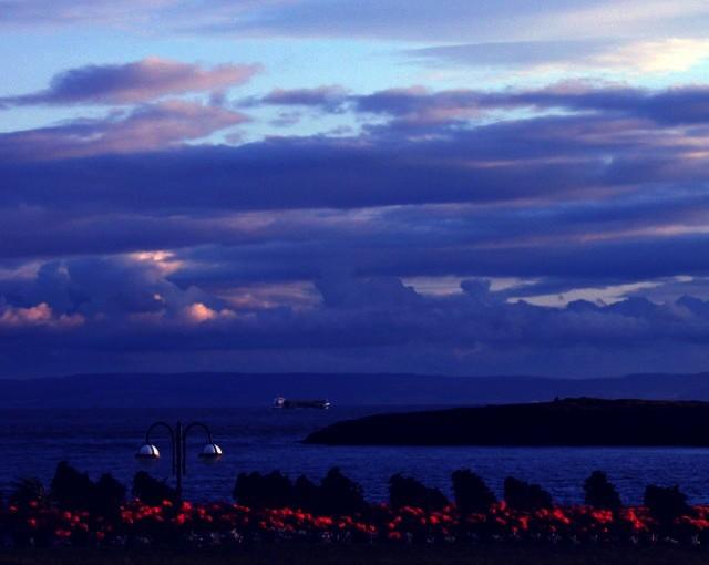 evening headland shot