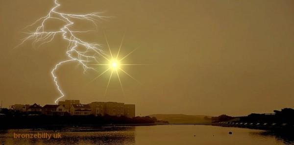 lightning sun