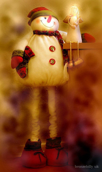 snowman fairy christmas romance bronzebilly