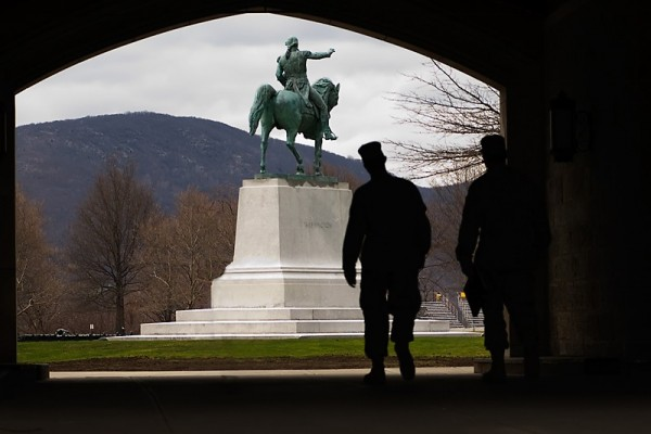 Overlooking the Parade Grounds at West Point