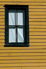 Old Yellow Wall with a Window