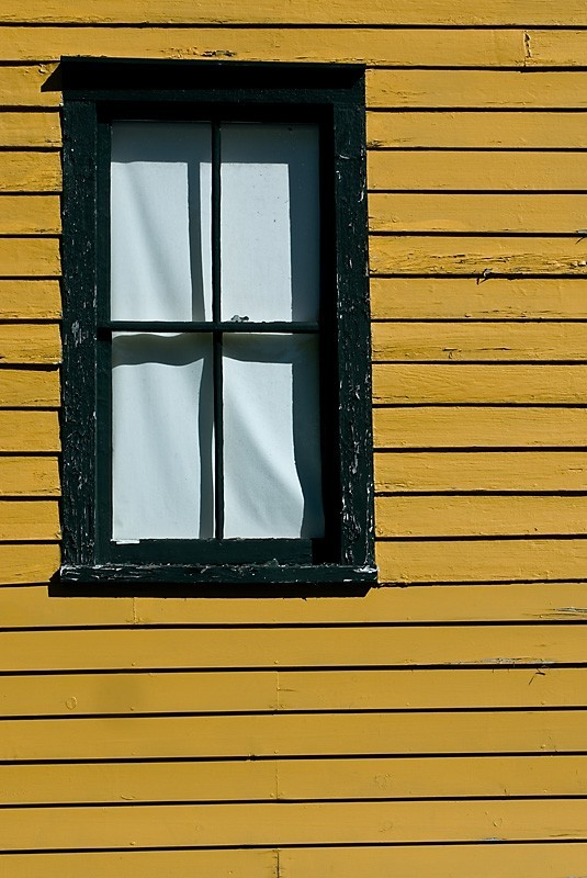 yellow wall with window