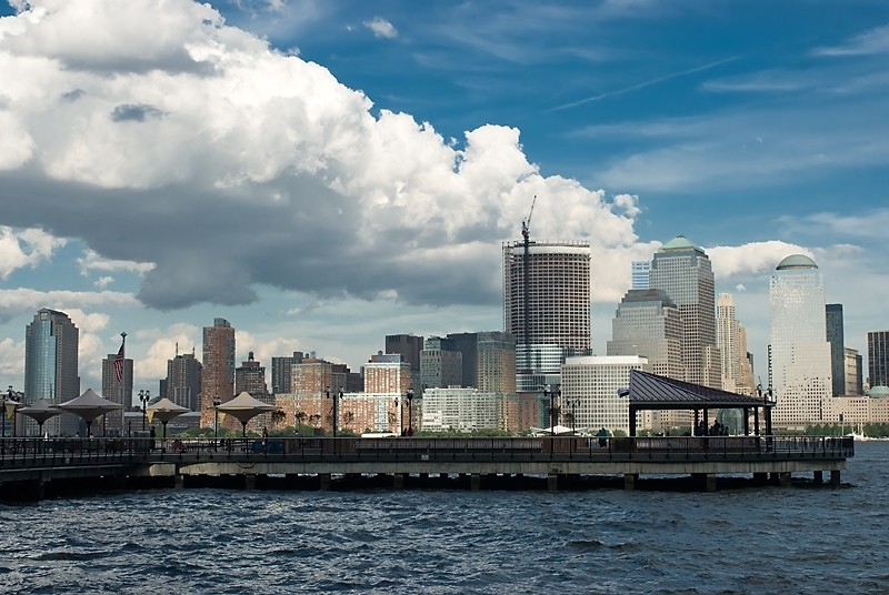 Jersey City Waterfront promenade view of NYC