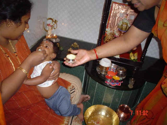 Anna Prahashana - A Ritual