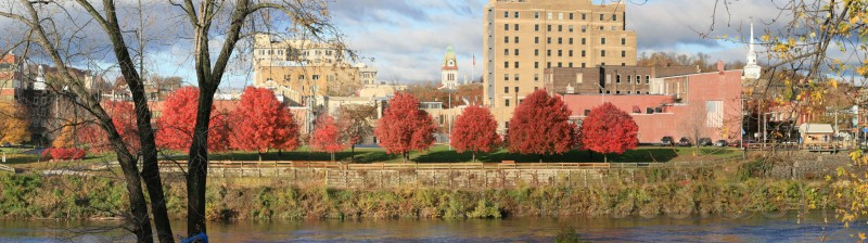 Downtown Easton PA, merged photo