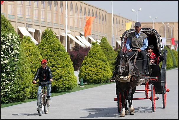 Naghsh jahan Square in Esfahan - IRAN