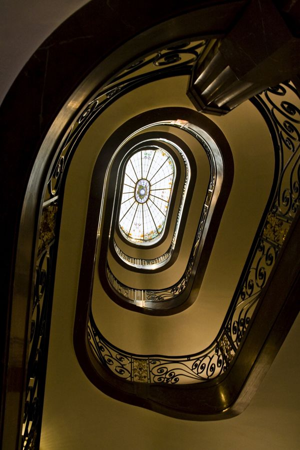 art nouveau stair case