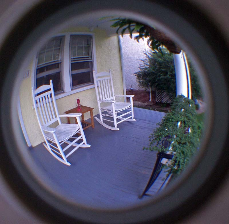 Wide-angle, porch