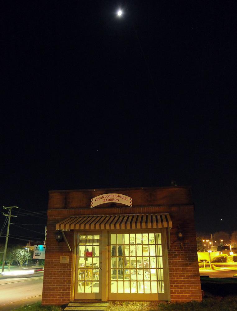 Moon over barber shop