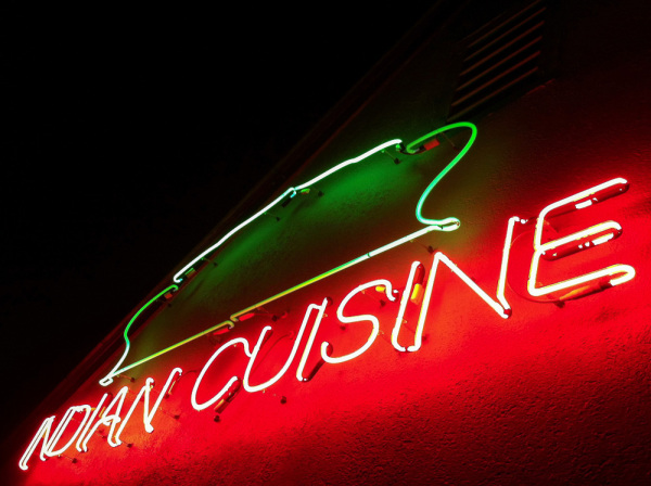 Restaurant sign, Milan of Charlottesville